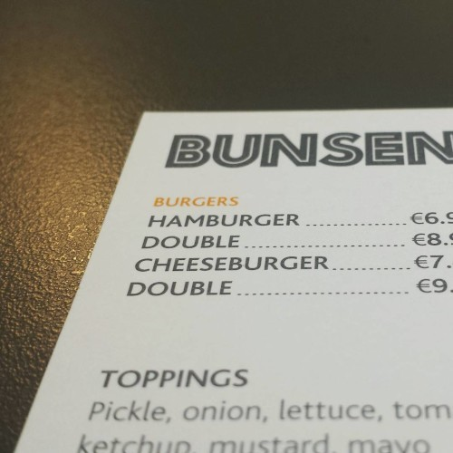 Tough choices... #Burger #bunsen #dublin #food