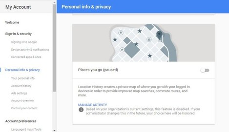 personal info and privacy