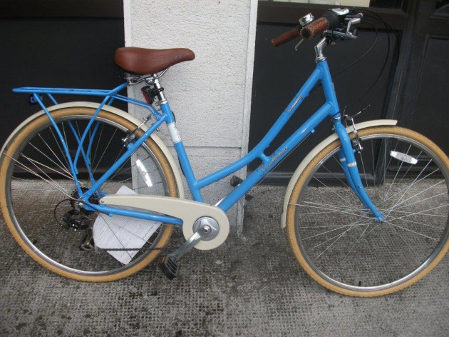 Carlow - Blue ladies bike with blue carrier
