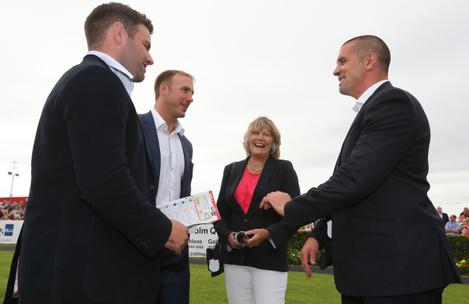 Fergus McFadden, Stephen Ferris, Jessica Harrington and Alan Quinlan