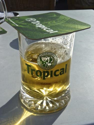 Tanque (large glass) of Tropical, La Terrazza, Calle Poblado Marinero, Los Gigantes, Tenerife, Spain
