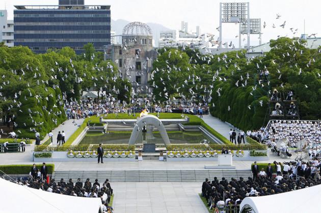 Hiroshima A-bomb anniversary
