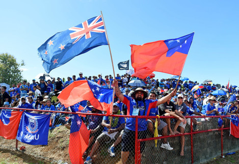 Samoa fans before the game