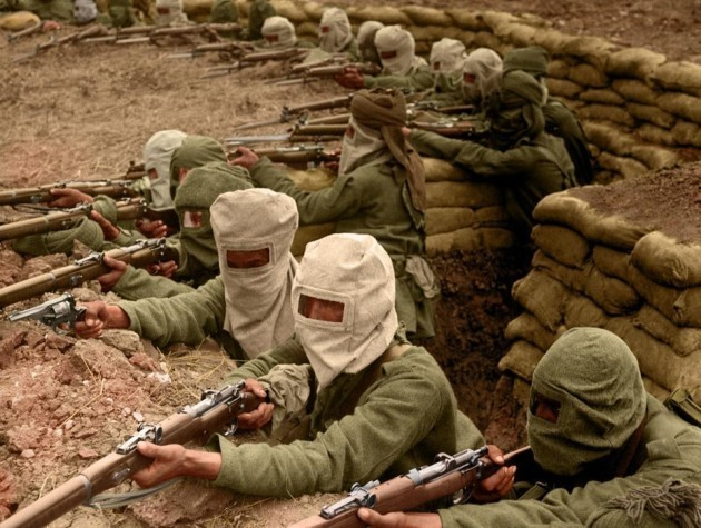 4-indian-infantry-gas-masks-ww1-colour
