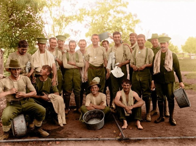 world-war-i-was-truly-a-global-conflict-these-soldiers-were-members-of-the-1st-australian-imperial-force-and-are-pictured-here-at-a-military-base-in-their-home-country