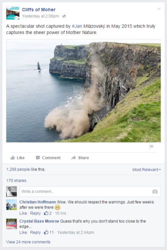 cliffs of moher facebook picture
