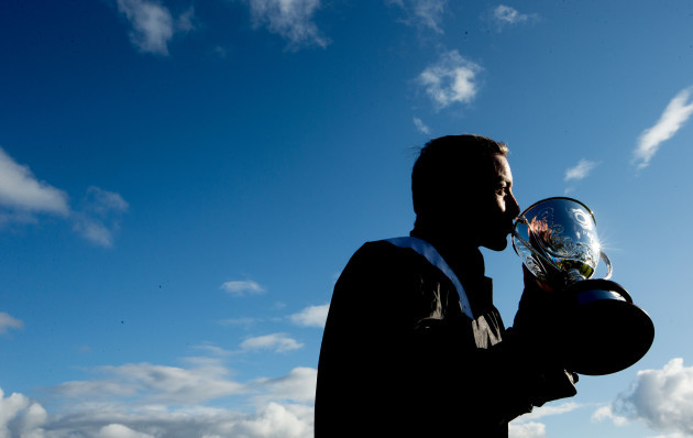 Wayne Lordan with the trophy after winning