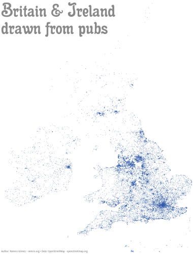 Map Of Ireland And Britain.This Map Of Ireland And Britain S Pubs Makes For A Sobering Sight