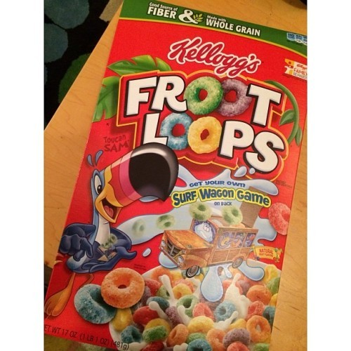 Finally found this in Dublin, the US version of Froot Loops! All time favourite! :D