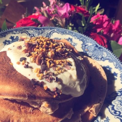 Protein pancakes using @healthplusstore @platinumanddiamond