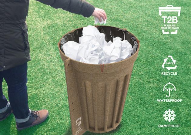 12221_T2B Trash Bin