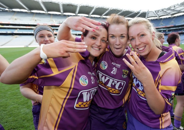 Shelley Kehoe, Louise Codd and Eimear O'Connor celebrate