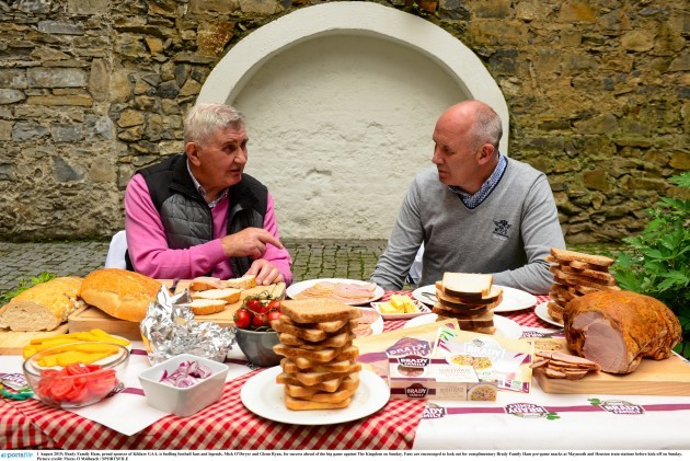 Mick O'Dwyer and Glenn Ryan fuelling Kildare success with Brady Family Ham, ahead of the big game on Sunday