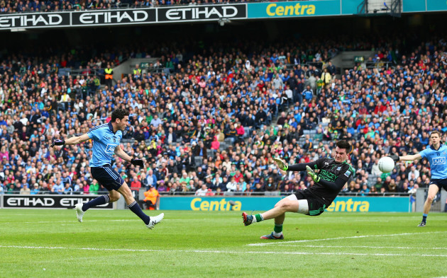 Bernard Brogan scores a goal