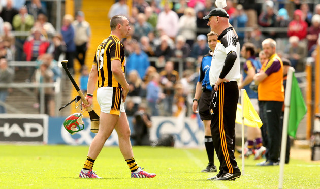 Eoin Larkin and manager Brian Cody