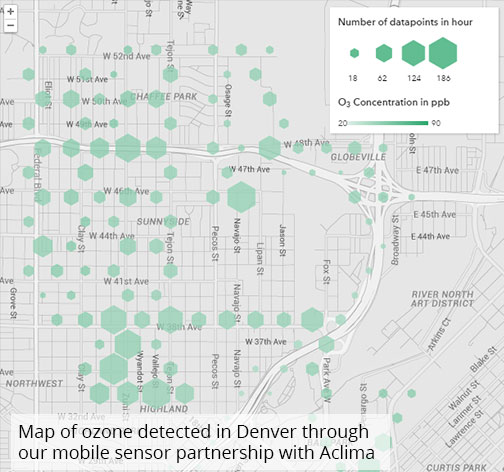 map of Denver produced by Aclima