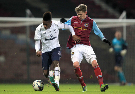 Soccer - FA Youth Cup - Fourth Round - West Ham United v Tottenham Hotspur - Upton Park