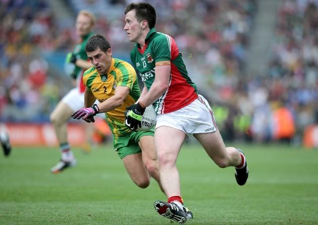 Cillian O'Connor with Paddy McGrath