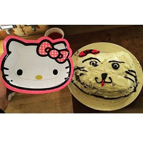Hello kitty cake fail