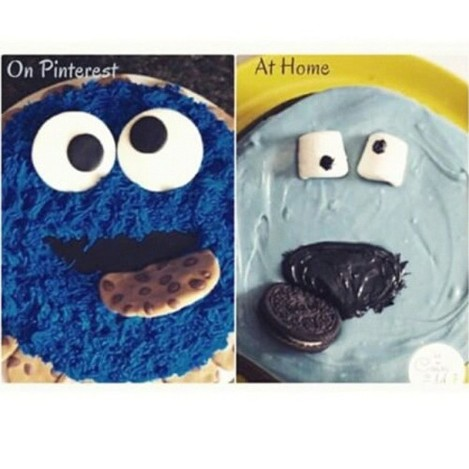 Cookie monster cake fail