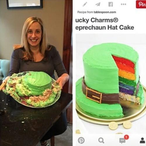 Leprachaun hat cake fail! @anneloconte @anneloconte @anneloconte #DIYfail #pinterestfail #nicetrydiys