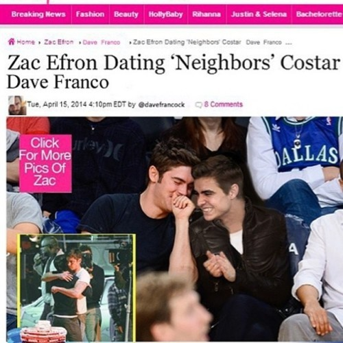 Effron and My brother, dating!!!!!! Congrats, boys! I'm so happy for you!!!
