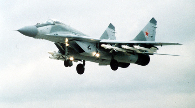 Russian MiG-29 jet