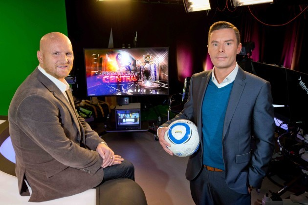 John Hartson with Connor Morris