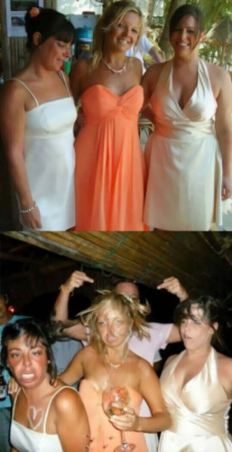 Three drunk girls