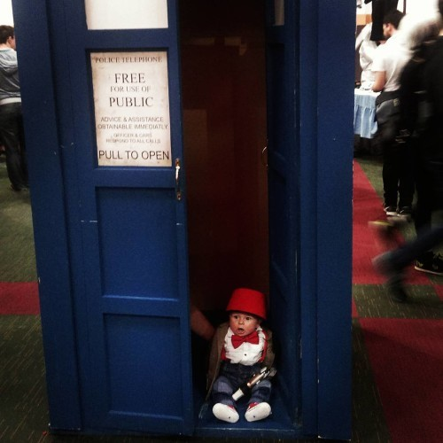 James 1st cosplay today at Dublin Comic Con 2015 #doctorwho #whovian #cosplay #comiccon #Dublin #dublincomiccon2015 #lookdcc #conventioncentredublin #babydrwho #fez #bowtie #sonicscrewdriver #bowtiesarecool #fezzesarecool #tardis #policebox #babycosplay #timelord #babytimelord #whoviansofinstagram #supersaturday #5monthsold #babyboy #dontforgetdads