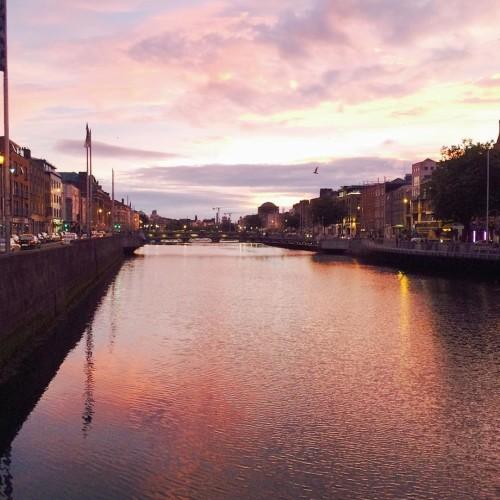 Had a great time in Dublin #dublin #visit #brother #sky #river #sunset #Dublin