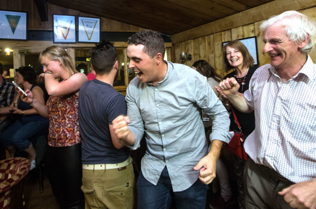 Alan Lowry celebrates