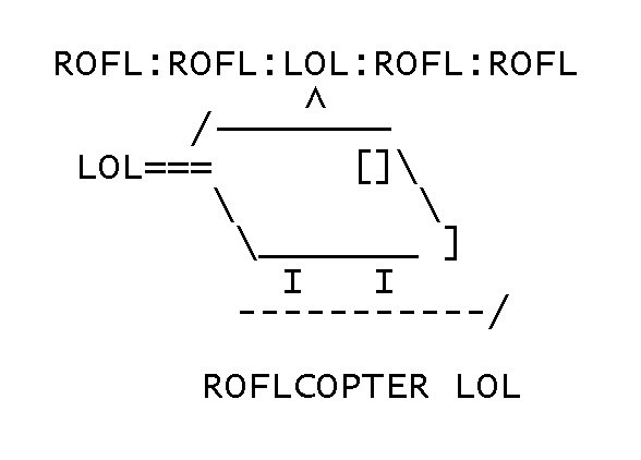 ROFLCOPTER by Yoshio the Hedgehog