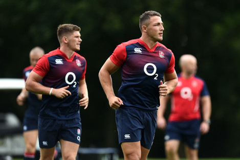 Rugby Union - World Cup Warm Up - England v France - England Training Session - Pennyhill Park