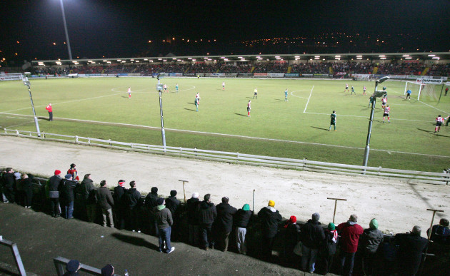 General view from tonight's game in the Brandywell