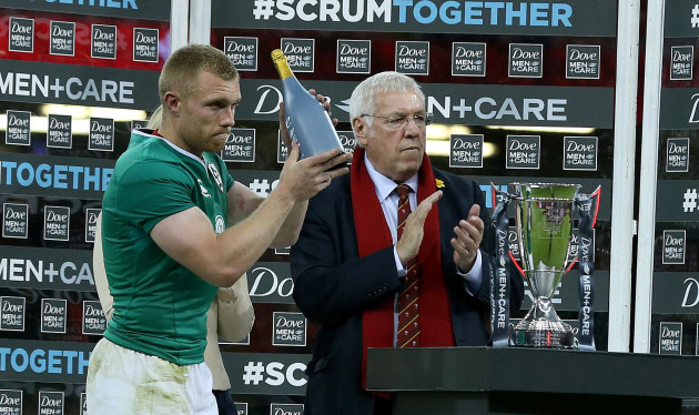 Keith Earls wins Man of the Match Award