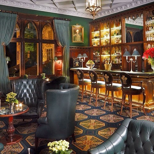 The Prince of Wales Bar, some might say the best room in the castle! We can't wait to reopen the doors and the cocktail menu. #bar #cocktails #cocktailbar #mayo #castle #drinks #finedining #interior #green #whiskey #wine #lounge #fivestar #luxuryhotel #leadinghotel #ireland #discoverireland #visitireland