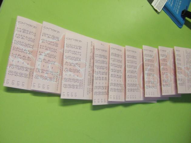 Not the winning tickets!