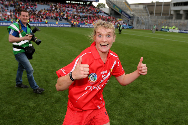 Briege Corkery celebrates after the game