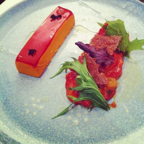 This red pepper mouse was excellent, so much flavour. #lateagram