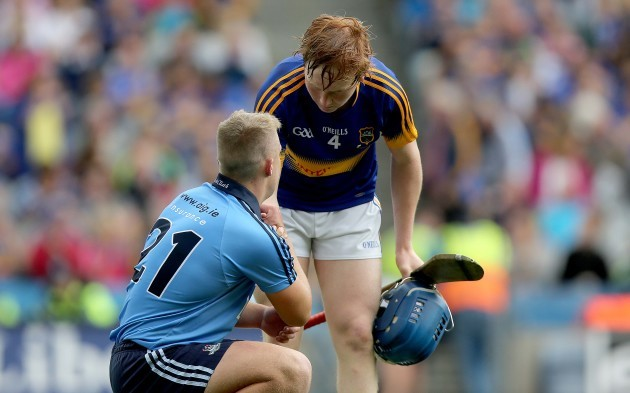 James Quigley with Gavin King at the end of the game