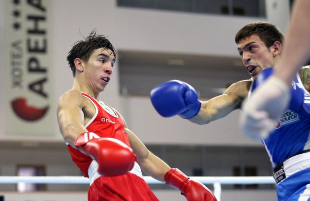 Michael Conlan in action against Francesco Maietta