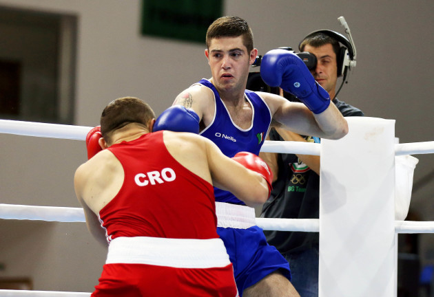 Joe Ward in action against Hrvoje Sep