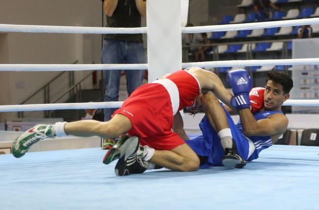 Michael Conlan in action against Qais Ashfaq