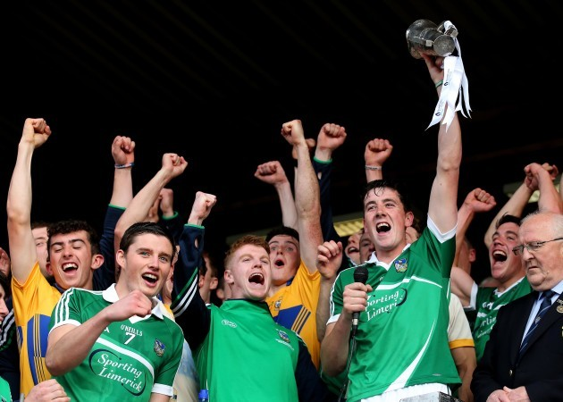 Barry O'Connell lifts the trophy