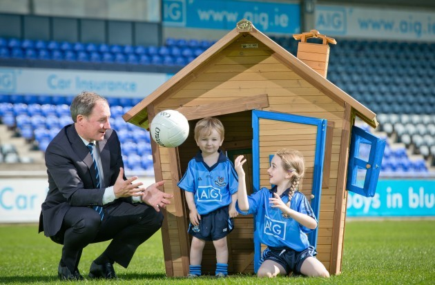 Jim Gavin with Adam Goldrick-McCann and Grace Goldrick-McCann