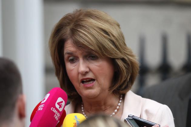 Joan Burton press conference