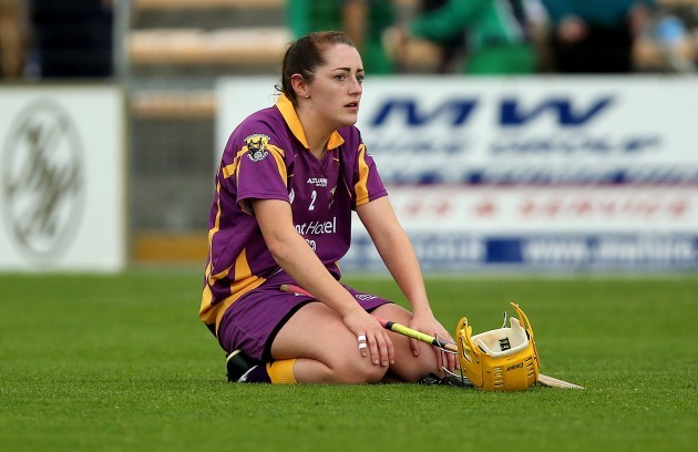 Louise O'Leary dejected at the final whistle