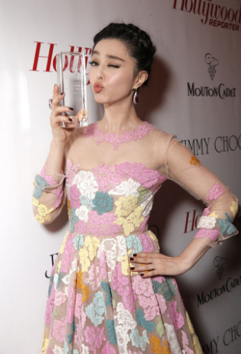 The Hollywood Reporter, Jimmy Choo and Mouton Cadet Celebrate Fan Bingbing as International Artist of the Year at Cannes - Insid