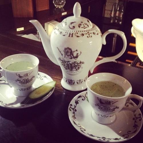 Hendricks high tea #teaparty #gin #teacups #hendricks #cute